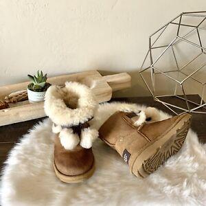 Ugg Toddler Gita Toddler Pom Boots US Size 10 #1017403T