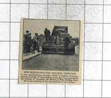 1946 New Road Surfacing Machine West Malling Kent, Quarter Of A Mile In One Day