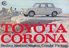 Toyota Corona 1500 Saloon Estate Van Pick up 1965-6 Original UK Sales Brochure