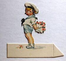 Vintage Bridge Tally Place Card  Litlte Navy Boy