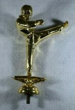 Vintage Gold Metal Male Karate Trophy Topper-New Old Stock-11.2 Ounces-5 Inches