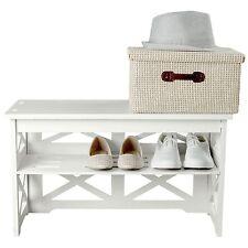 Small Shoe Storage Bench Rack Seat Shelves Hallway Bathroom Home Organizer NEW