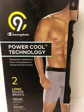 """Champion Men's Power Cool Duo Dry Boxer Briefs Long Length Size Small 28""""-30"""" A4"""