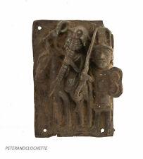PLAQUE DE PALAIS BINI EDO NIGERIA BENIN  BRONZE CIRE PERDUE 19x14  651