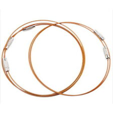 30x Tawny Steel Memory Cord Wire Bangle 160285 FREE P&P
