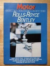 BENTLEY ROLLS ROYCE 1986 Motor Supplement brochure - Silver Ghost, Phantom VI
