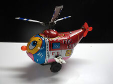 Ancien hélicoptère en tole Fire chief Mikuni Japan TBE