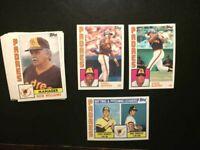 1984 Topps San Diego Padres Team Set 27 Cards NM-MT W/Tony Gywnn,-FREE SHIPPING