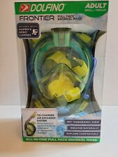 Dolfino Frontier All-in-one Full Face Snorkel Mask Adult Small/Med Works W GoPro