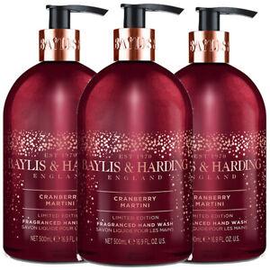 3 x Baylis & Harding CRANBERRY MARTINI LUXURY Hand Wash 500ml