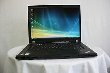 Laptop Lenovo Thinkpad T500 2.26GHZ 2GB 160GB Windows Vista NEW BATTERY GRADE B+