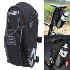 Cycling Bicycle Saddle Bag Pannier Bike Seat Bag Tail Storage Bottle Holder