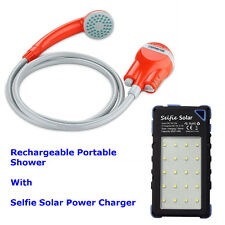 Portable Camping Shower USB Battery-Power - Back-up Power Charger - Glastonbury