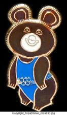 OLYMPIC PINS 1980 MOSCOW RUSSIA MASCOT MISHA BLUE-OLD
