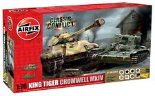 Airfix 50142 King Tiger & Cromwell MkIV Classic Conflict 1/76 Scale Starter Set