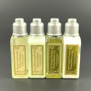 L'Occitane Verbena 4 Pc Travel Set Shampoo Conditioner Shower Gel Lotion1 oz
