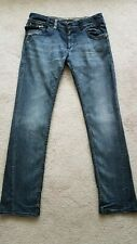 Miss Sixty Straight Leg Jeans Pocket Zippers Stones Made In Italy Women's 33
