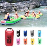 For Canoe Floating Boating Kayaking Camping Dry Bag Sack 3L Waterproof  Backpack