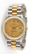 MENS 18K & S/S ROLEX OYSTER PERPETUAL DATE 1505 c.1964 AUTOMATIC WRIST WATCH
