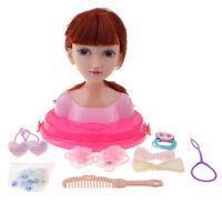 Girls Fashion Hair Styling Dolls Head Play Set Kids Childs Toys
