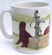 IRISH SETTER DOG MUG OFF TO THE DOG SHOW WATERCOLOUR PRINT SANDRA COEN ARTIST