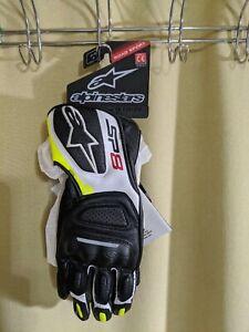 Alpinestars SP-8 V2 Gloves Black/ White /Yellow Flo Size Small
