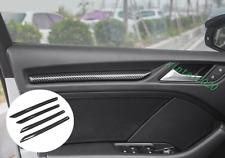 Carbon Fiber Interior Door Panel Decoration Trim Strip For Audi A3 8V 2014-2019