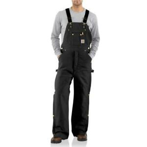 40x36 Carhartt Men's Duck Zip-to-Thigh Bib Overall - Quilt Lined Style: R41