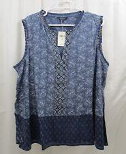 Women's Lucky BRAND Embroidered Peplum Shirt 3x