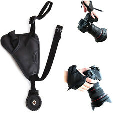 Camera Black Leather Soft Wrist Strap/Hand Grip for Canon Nikon Sony fuji DSLR
