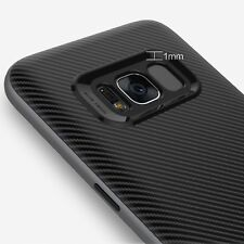 Samsung S8+ Plus Cover Case Noziroh Hybrid Carbon Antishock Frosted Shockproof