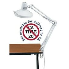 Alvin White Swing-Arm Combination Lamp-CL1755-D NEW