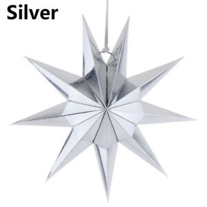 Novelty 3D Paper 9 Point Star Christmas Halloween Party Hanging Decoration