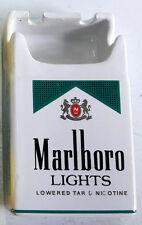 Marlboro Green Lights Marlboro Cigarettes Pack Shape Ceramic Ashtray Advert Nib