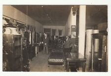 Real Photo Postcard Interior of E.A. Wards Furniture Store of Washington, Kansas