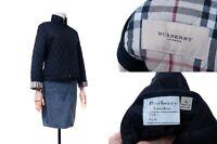 Women's BURBERRY LONDON Quilted Jacket Black Color Nova Plaid Size L