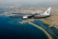 AMERICAN AIRLINES BOEING 737 RETRO ASTROJET 8x12 SILVER HALIDE PHOTO PRINT