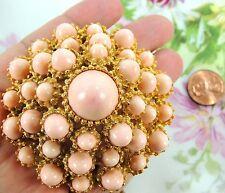 KJL Kenneth Jay Lane Vintage Pin Brooch Jewelry Estate Huge Faux Angel Coral