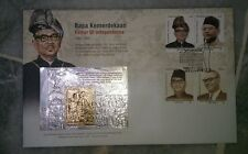 Royal Selangor Pewter Gold Silver Stamp FDC Bapa Kemerdekaan Tunku Abdul Rahman