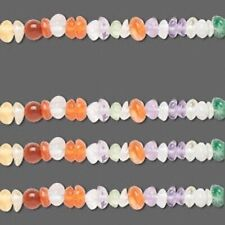 "14"" Strand Gemstone Rondelle Amethyst Quartz Carnelian & More MIX *"