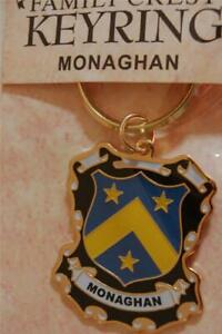 MONAGHAN Family KEYRING Coat of Arms - Heraldic Crest - Metal Key Chain