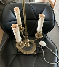 Estilo Vintage Lámpara De Mesa Con Efecto Vela Titulares-posiblemente Latón (artículo pesado