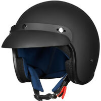 ILM 3/4 Open Face Motorcycle Helmet Retro Casco ATV Moped Scooter Cruiser DOT