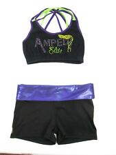 Super Sexy Competition Cheerleader Uniform Outfit Costume AMPED Elite Adult Sm