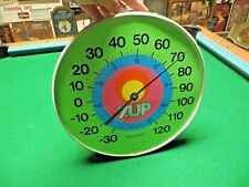 7up The Uncola,Peter Max design rainbow,vtg The original jumbo dial thermometer