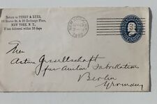 29915 Brief Ganzsache USA 5 Cents Letter From perry & Ryer New York 13.4.1892
