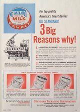 1951 AD(XX34)~STANDARD PACKAGING CORP. CHICAGO. MILK BOTTLE HOODING MACHINE