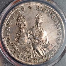 1759, Salzburg, Sigismund III von Schrattenbach. Silver Thaler Coin. PCGS AU58!