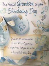 Grandson Christening Card