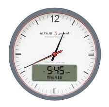Alfajr Large Round Wall Ana-Digi Automatic Azan Prayer Clock Qibla Muslim Cr-23